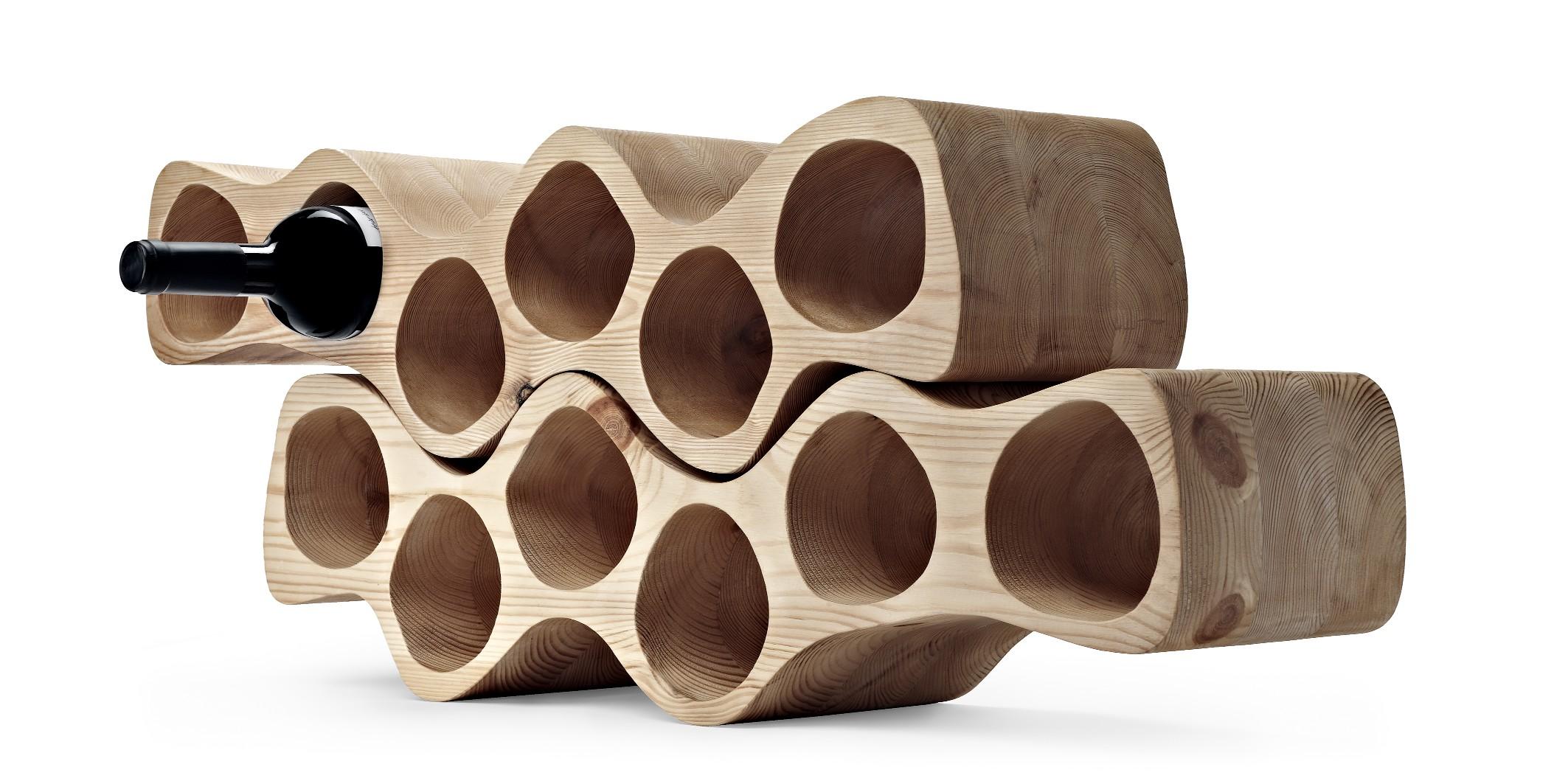 El botellero sinuoso - Botelleros de madera para vino ...