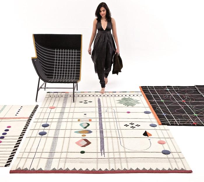 Nueva colecci n alfombras nani marquina 2014 domusxl for Alfombras dibujos geometricos